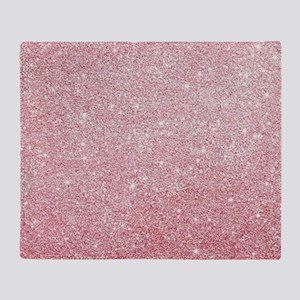 Rose-gold faux glitter Throw Blanket
