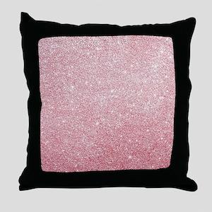 Rose-gold faux glitter Throw Pillow