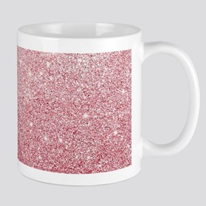 Rose-gold faux glitter Mugs