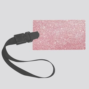 Rose-gold faux glitter Large Luggage Tag