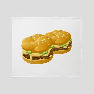 Cheeseburgers Throw Blanket