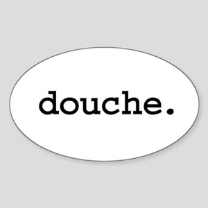 douche. Oval Sticker