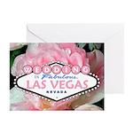 LV Pink Flower WEDDING Cards (Pk of 10)