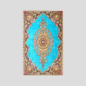 Blue Floral Persian Carpet Area Rug