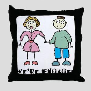 Engagement Throw Pillow