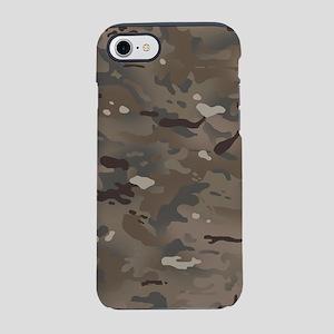 Camouflage: Dark Brown iPhone 8/7 Tough Case