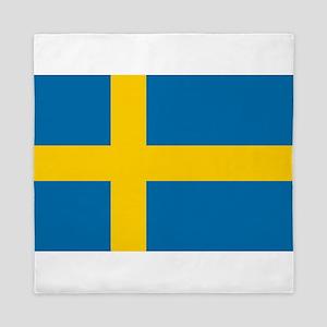 Flag of Sweden - Sveriges flagga - Swe Queen Duvet