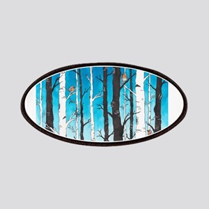 Watercolor Birch Trees Patch