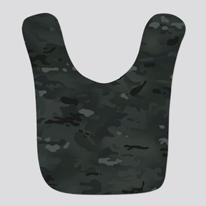 Camouflage: Black Polyester Baby Bib