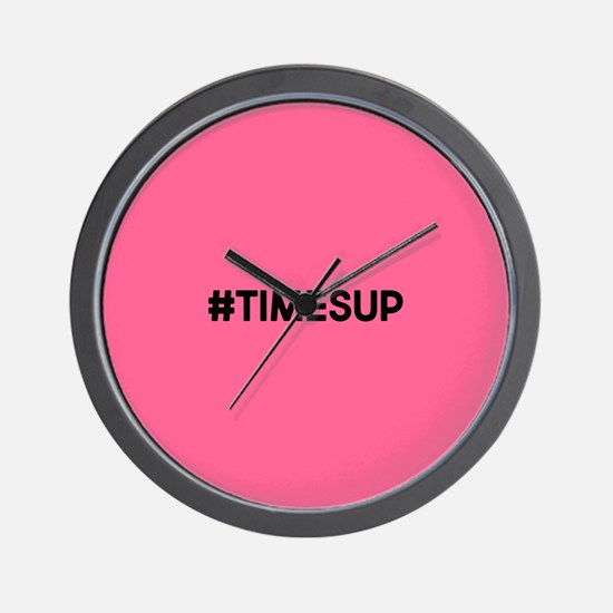 Times Up Wall Clock