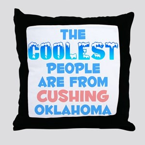 Coolest: Cushing, OK Throw Pillow
