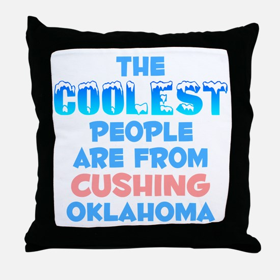 Coolest: Cushing, OK Throw Pillow