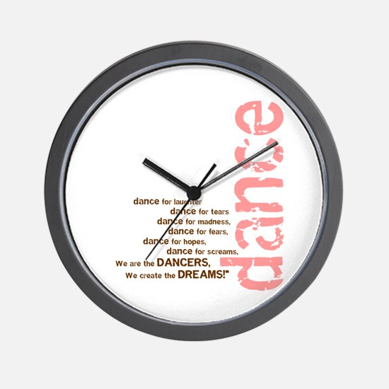 We Create the Dreams Wall Clock