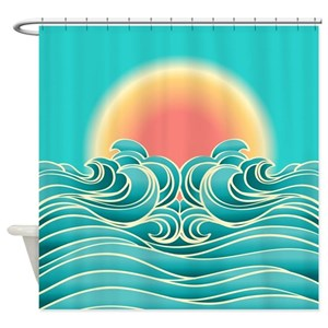 Hawaii Sunset Shower Curtains