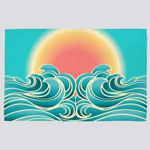 Ocean Sunset 4' x 6' Rug