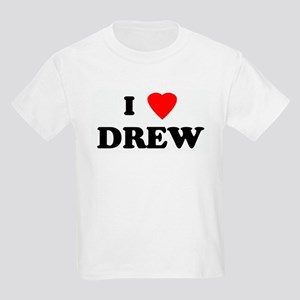 I Love DREW Kids Light T-Shirt