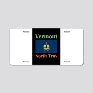 North Troy Vermont Aluminum License Plate