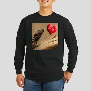 Helaine's Lizard Valentine Long Sleeve Dark T-Shir