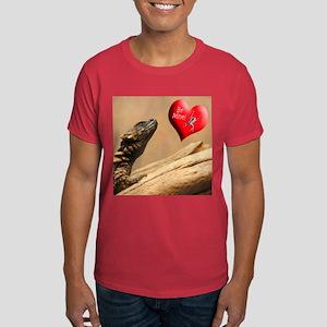 Helaine's Lizard Valentine Dark T-Shirt