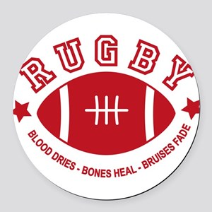 Rugby Round Car Magnet