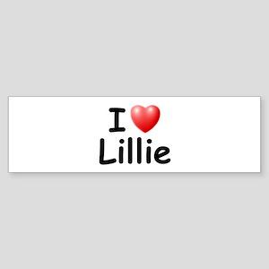 I Love Lillie (Black) Bumper Sticker