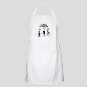 Funny Artist Cartoon Apron