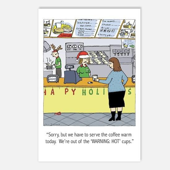 Warm Coffee Holiday Cartoon Postcards (Pk of 8)