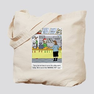 Warm Coffee Holiday Cartoon Tote Bag