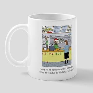 Warm Coffee Holiday Cartoon Mug