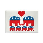 Republican Family Rectangle Magnet