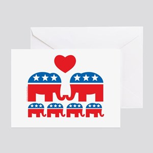 Republican Family Greeting Cards (Pk of 10)