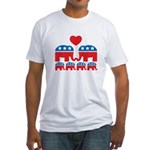 Republican Family Fitted T-Shirt