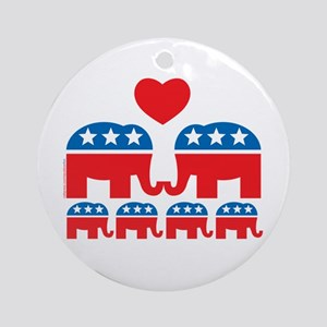 Republican Family Ornament (Round)