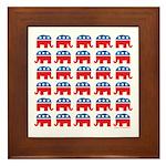 Republican Rally Framed Tile