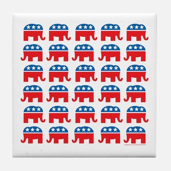 Republican Rally Tile Coaster