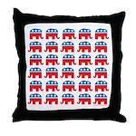 Republican Rally Throw Pillow