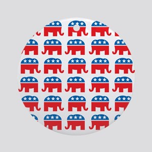 Republican Rally Ornament (Round)