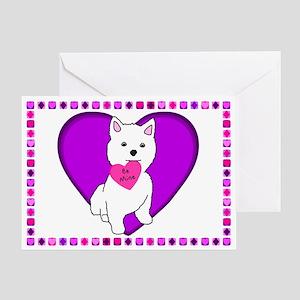 Westie Valentine's Day Card