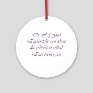 Grace of God Ornament (Round)