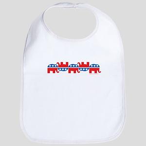 Republican Elephant Logos Bib
