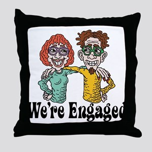Funny Engagement Throw Pillow