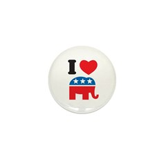 I Heart Republicans Mini Button (10 pack)