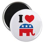 I Heart Republicans Magnet