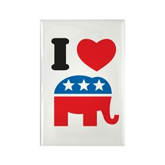 I Heart Republicans Rectangle Magnet (100 pack)
