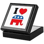 I Heart Republicans Keepsake Box