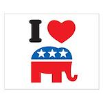 I Heart Republicans Small Poster