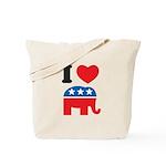 I Heart Republicans Tote Bag