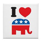 I Heart Republicans Tile Coaster