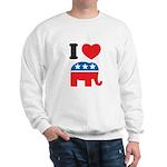 I Heart Republicans Sweatshirt