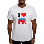 I Heart Republicans Light T-Shirt